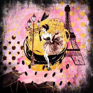 Fashion Girl In Paris by Grab My Art