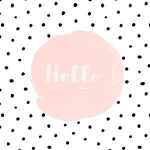 Hello Illustration Dots Shabby by Grab My Art