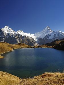 Lake & Mountains Panorama by Grab My Art