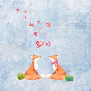 Love Cute Fox Animal Mammal - Square by Grab My Art