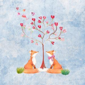 Love Foxes Animal Wild Mammal - Square by Grab My Art
