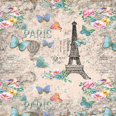 Paris And Eiffel Tower In Pink by Grab My Art