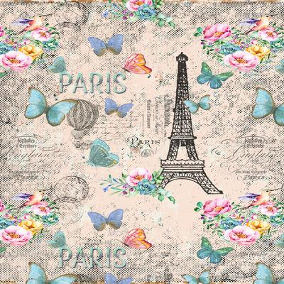 Paris And Eiffel Tower In Pink