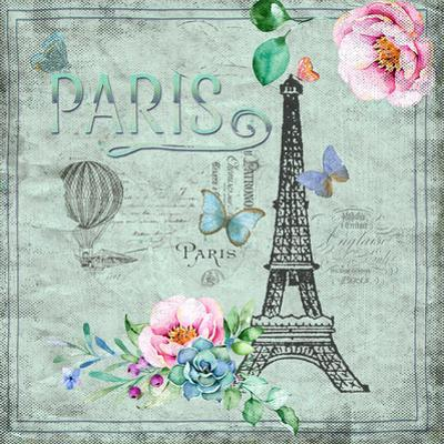 Paris And Eiffel Tower by Grab My Art