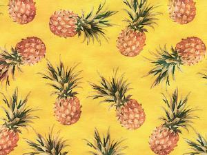 Pineapple Yellow Pattern by Grab My Art