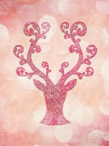 Pink Glitter Deer 2 by Grab My Art