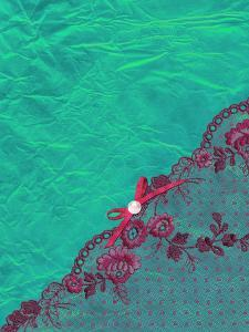 Pink Lace Aqua Silk Pattern by Grab My Art