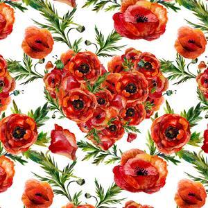 Poppies Poppy Pattern Illustration 3 by Grab My Art