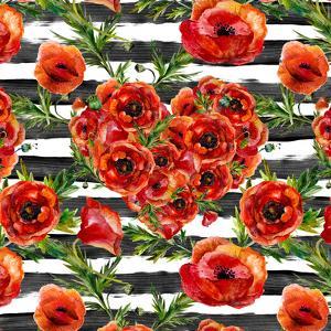 Poppies Poppy Pattern Illustration by Grab My Art