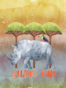 Rhinoceros Africa Animal by Grab My Art