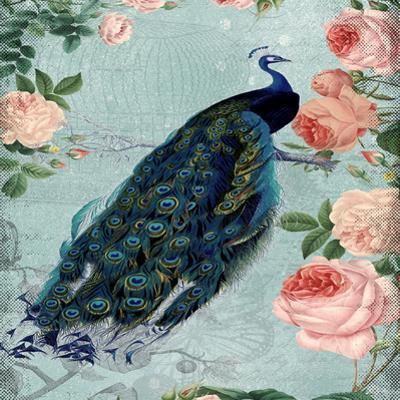 Rose Flowers And Peacock by Grab My Art
