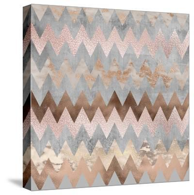 Rose Gold Marble Chevron by Grab My Art