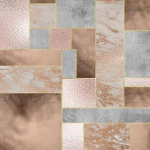 Rose Gold Marble Copper by Grab My Art