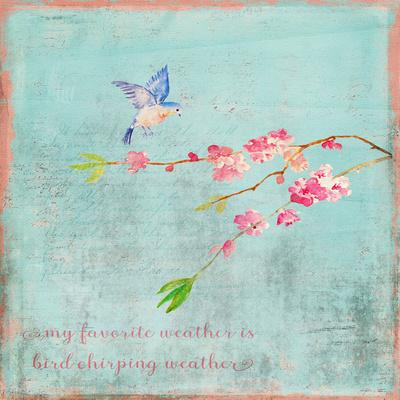 Spring Bird Sakura And Cherry Blossom