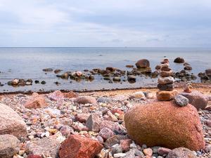 Stones Pebbles Sea Beach Sun1 by Grab My Art