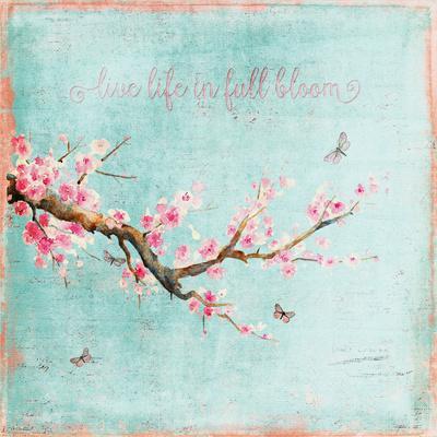 Teal Spring Sakura Cherry Blossom