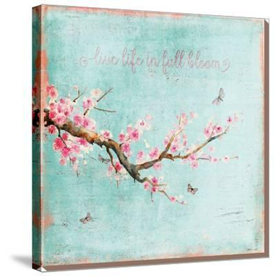Teal Spring Sakura Cherry Blossom by Grab My Art