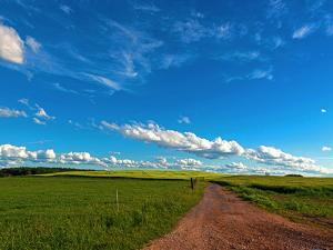Trail Fields Sky Clouds Summer by Grab My Art