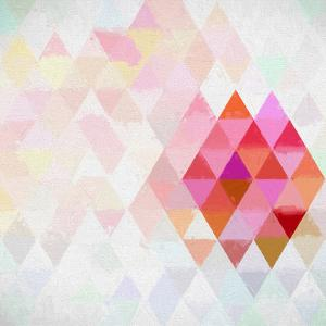 Triangles Abstract Pattern - Square 10 by Grab My Art