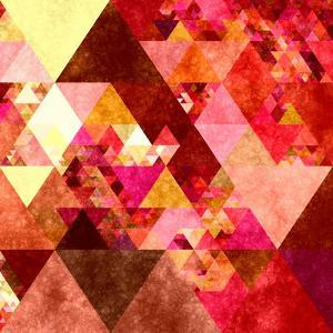 Triangles Abstract Pattern -Square 12 by Grab My Art