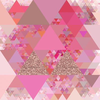 Triangles Abstract Pattern - Square 13 by Grab My Art