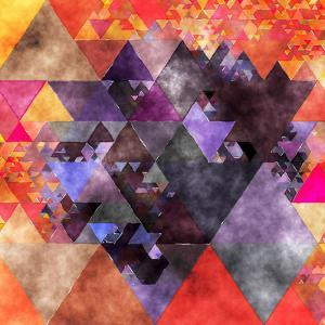 Triangles Abstract Pattern - Square 14 by Grab My Art
