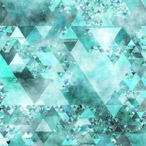 Triangles Abstract Pattern - Square 15 by Grab My Art