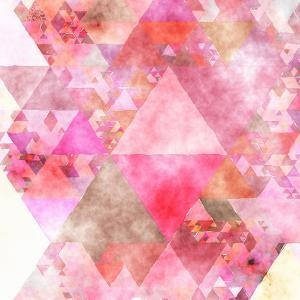 Triangles Abstract Pattern - Square 16 by Grab My Art