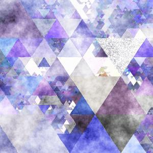 Triangles Abstract Pattern -Square 17 by Grab My Art