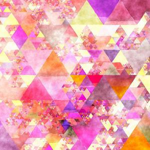 Triangles Abstract Pattern - Square 18 by Grab My Art