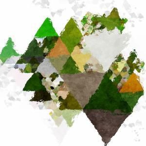Triangles Abstract Pattern -Square 20 by Grab My Art