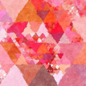Triangles Abstract Pattern - Square 23 by Grab My Art