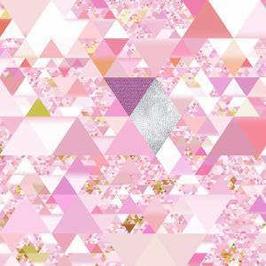 Triangles Abstract Pattern - Square 25 by Grab My Art