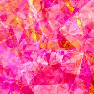 Triangles Abstract Pattern - Square 27 by Grab My Art