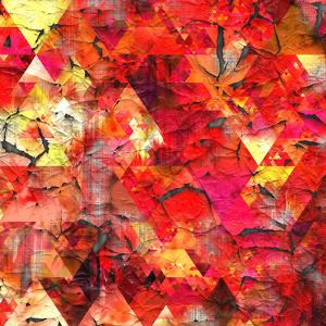 Triangles Abstract Pattern - Square 29 by Grab My Art