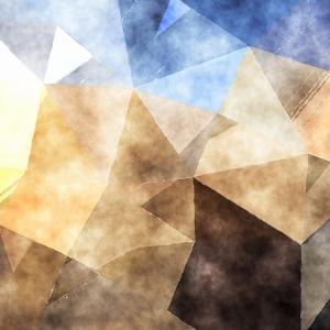 Triangles Abstract Pattern - Square 4 by Grab My Art