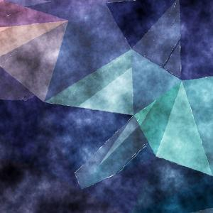 Triangles Abstract Pattern - Square 5 by Grab My Art
