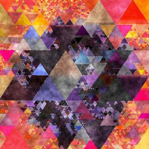 Triangles Abstract Pattern - Square 6 by Grab My Art
