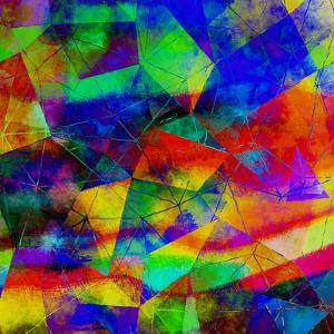 Triangles Abstract Pattern - Square 9 by Grab My Art
