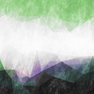 Triangles Abstract Pattern- Square by Grab My Art