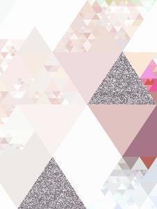 Triangles Rosequartz Pattern by Grab My Art