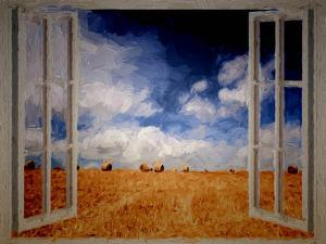 Window Field Summer Painting by Grab My Art