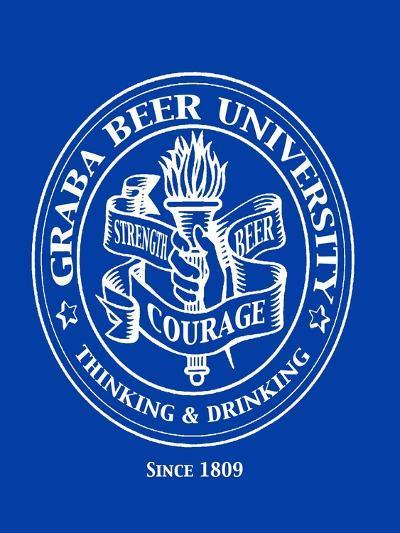 Graba Beer University-Jim Baldwin-Art Print