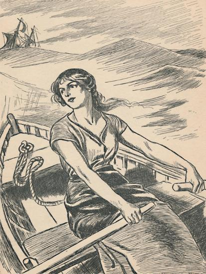 'Grace Darling Rows Out To The Wreck', c1907-Unknown-Giclee Print