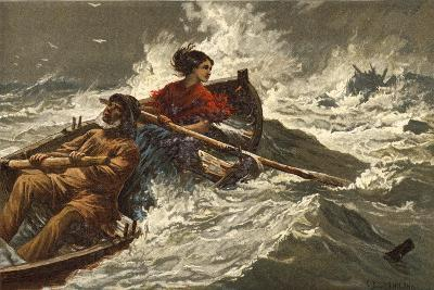 Grace Darling-Charles Joseph Staniland-Giclee Print