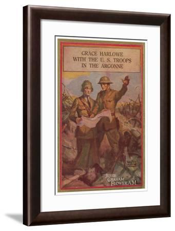 Grace Harlowe With The U.S. Troops In The Argonne-Walter Hayn-Framed Art Print