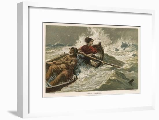 Grace Horsley Darling Daughter of Lighthouse-Keeper on the Farne Islands-Charles Joseph Staniland-Framed Giclee Print