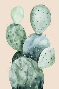 Cactus on Coral II by Grace Popp
