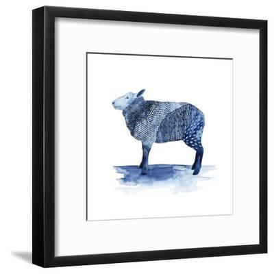 Cobalt Farm Animals III by Grace Popp