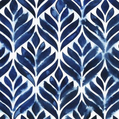 Cobalt Watercolor Tiles IV by Grace Popp